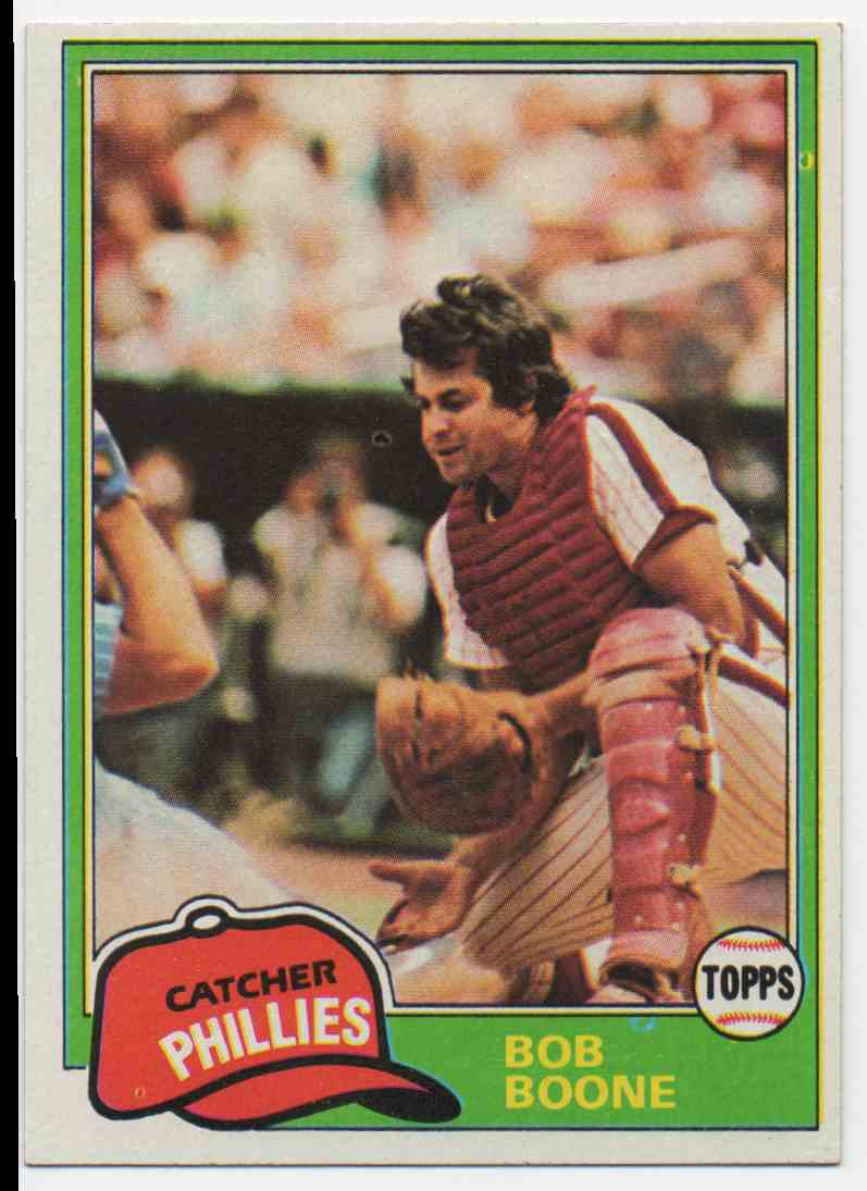 1981 Topps Bob Boone #290 card front image