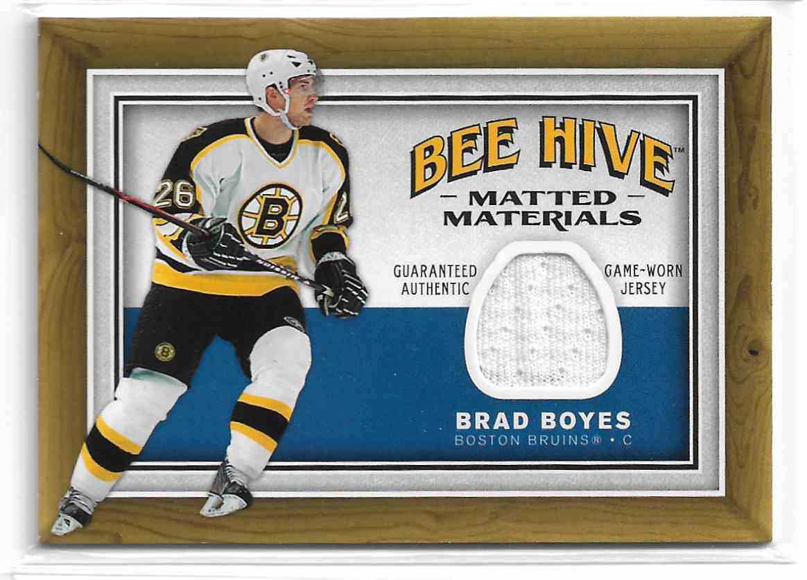 2006-07 Upper Deck Bee Hive Matted Materials Brad Boyes #MM-BB card front image