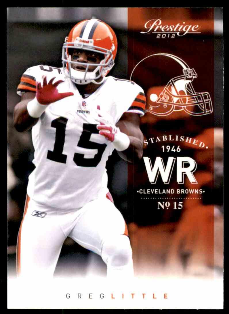2012 Prestige Greg Little #46 card front image