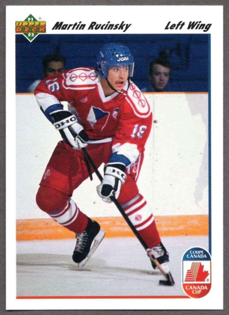 1991-92 Upper Deck Martin Rucinsky #19 card front image