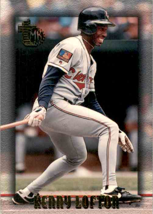 1995 Topps Embossed Kenny Lofton #1 card front image