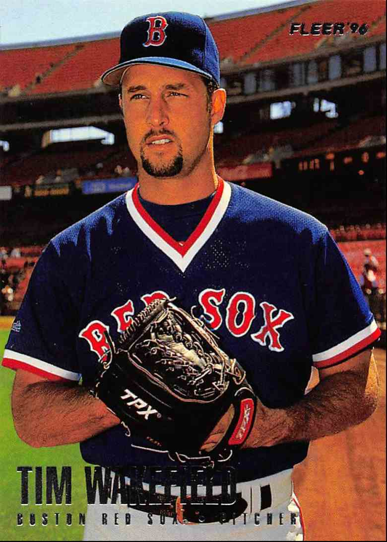 1996 Fleer Boston Red Sox Tim Wakefield 18 On Kronozio
