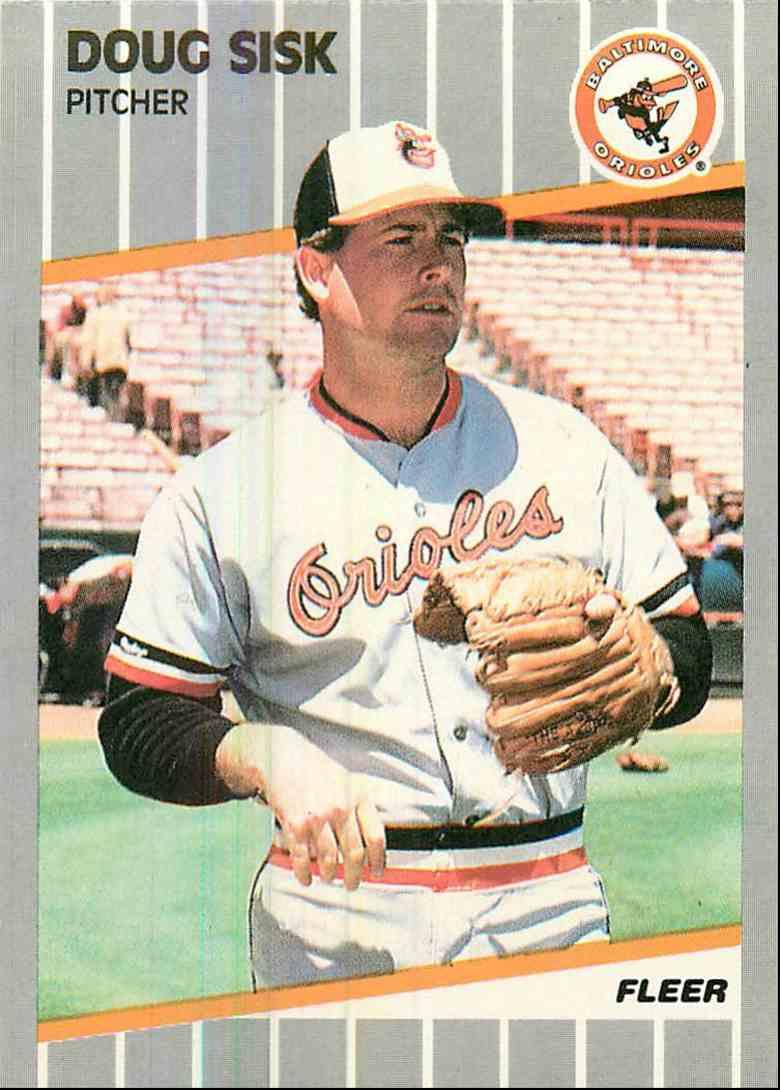 1989 Fleer Doug Sisk #621 card front image