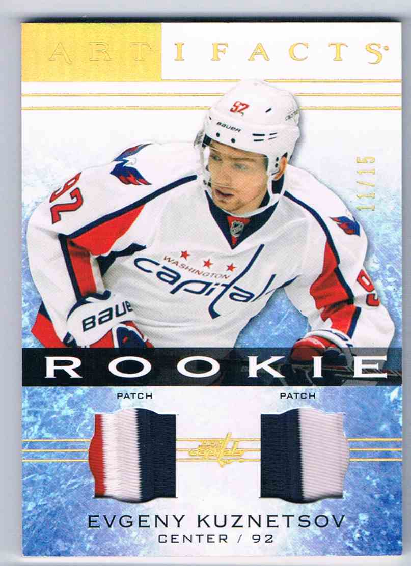 2014-15 Artifacts Rookie Dual Patch Evgeny Kuznetsov #121 card front image