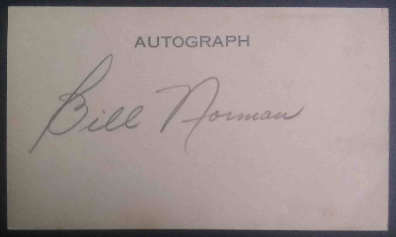 1931 3X5 Bill Norman card front image