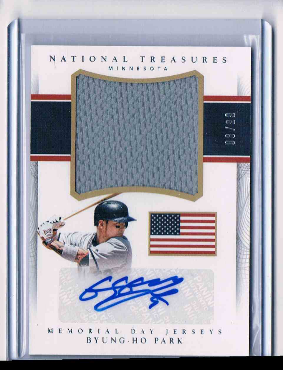 2015 Panini National Treasures Byung-Ho Park #MDJS-BP card front image