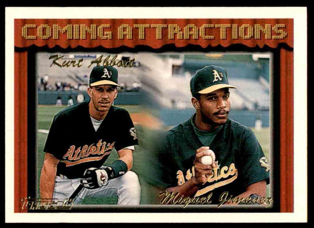 1994 Topps Gold Kyle Abbott/Miguel Jimenez #773 card front image