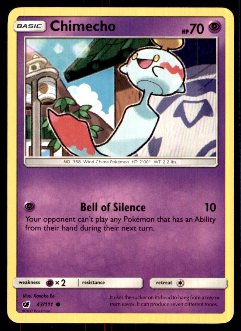 2017 Sun & Moon - Crimson Invasion Chimecho #43 card front image