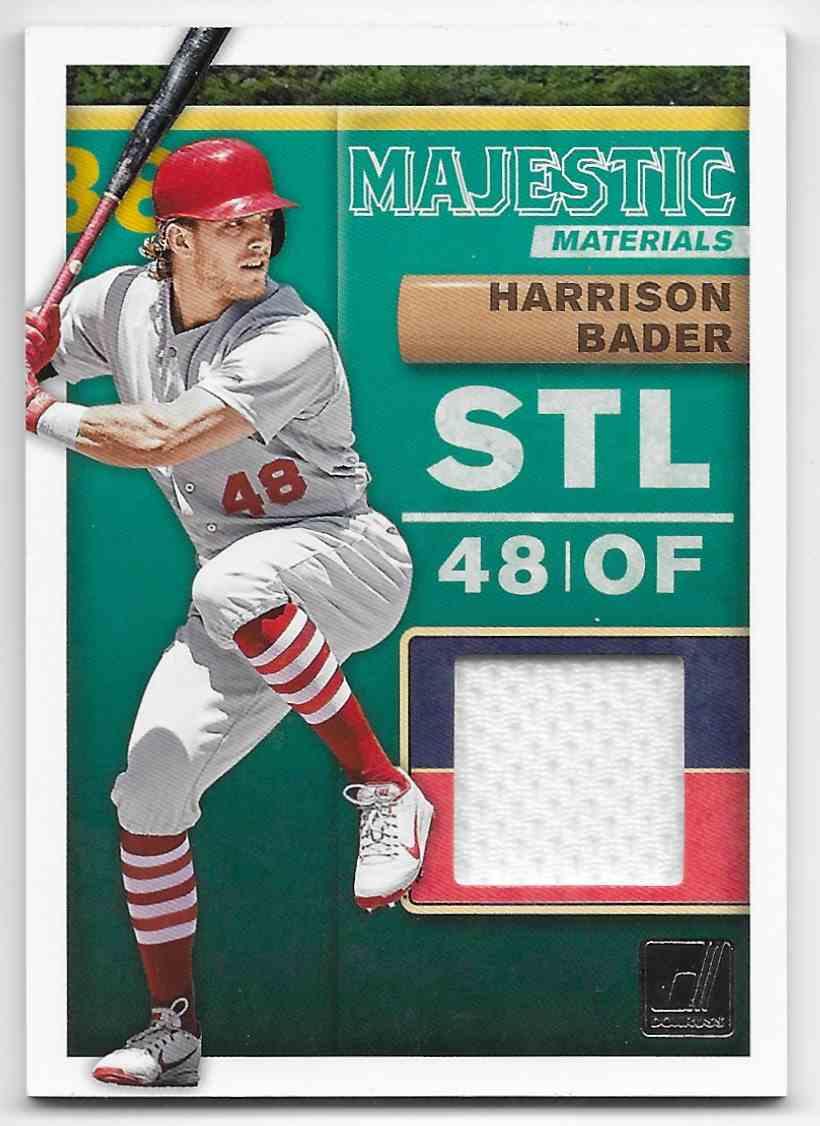 2019 Donruss Majestic Materals Harrison Bader #MM-HB card front image