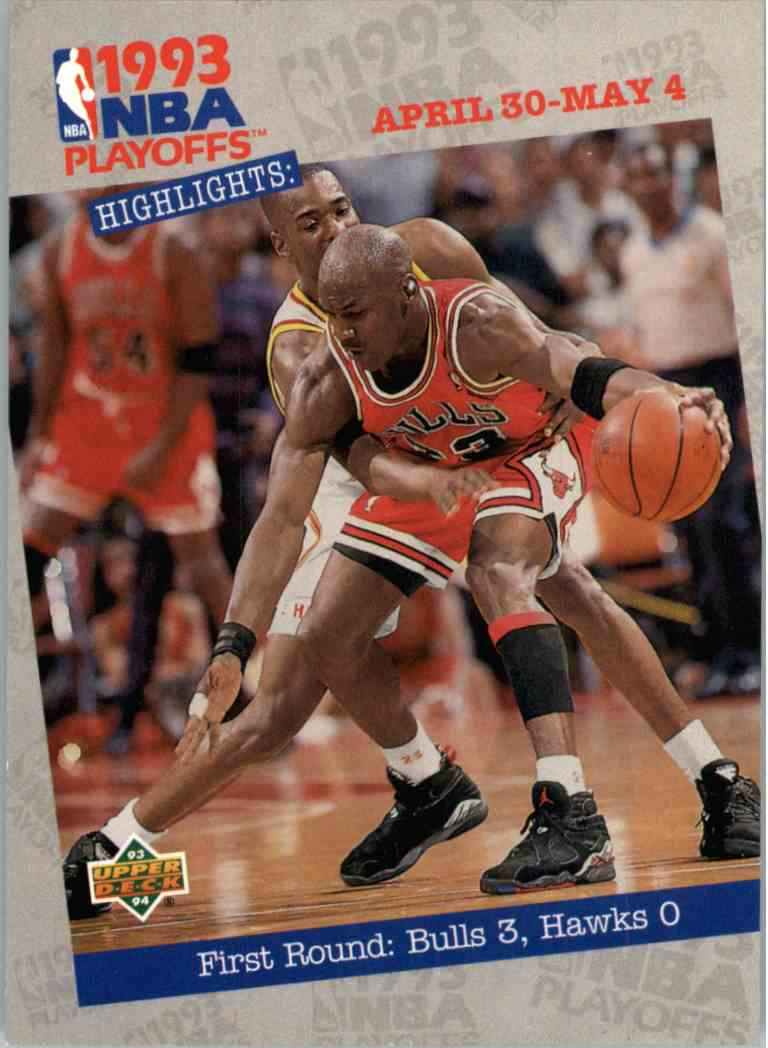 1993-94 Upper Deck UD Choice First Round: Bulls 3, Hawks 0 #180 card front image