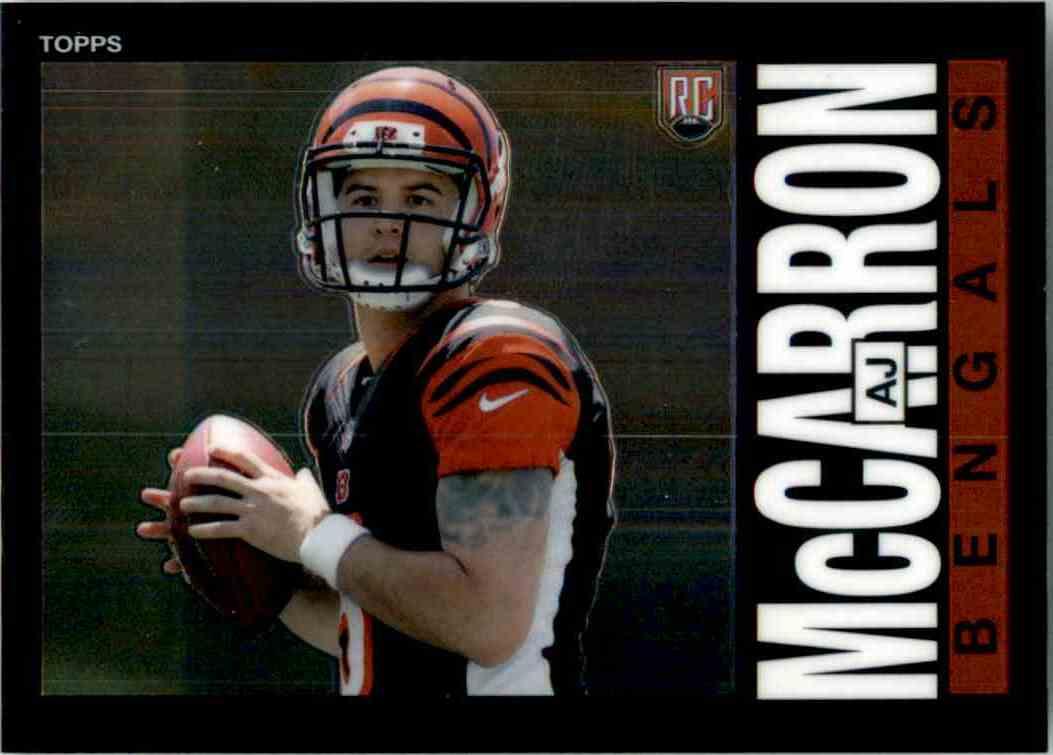 2014 Topps Chrome 1985 A.J. McCarron #22 card front image