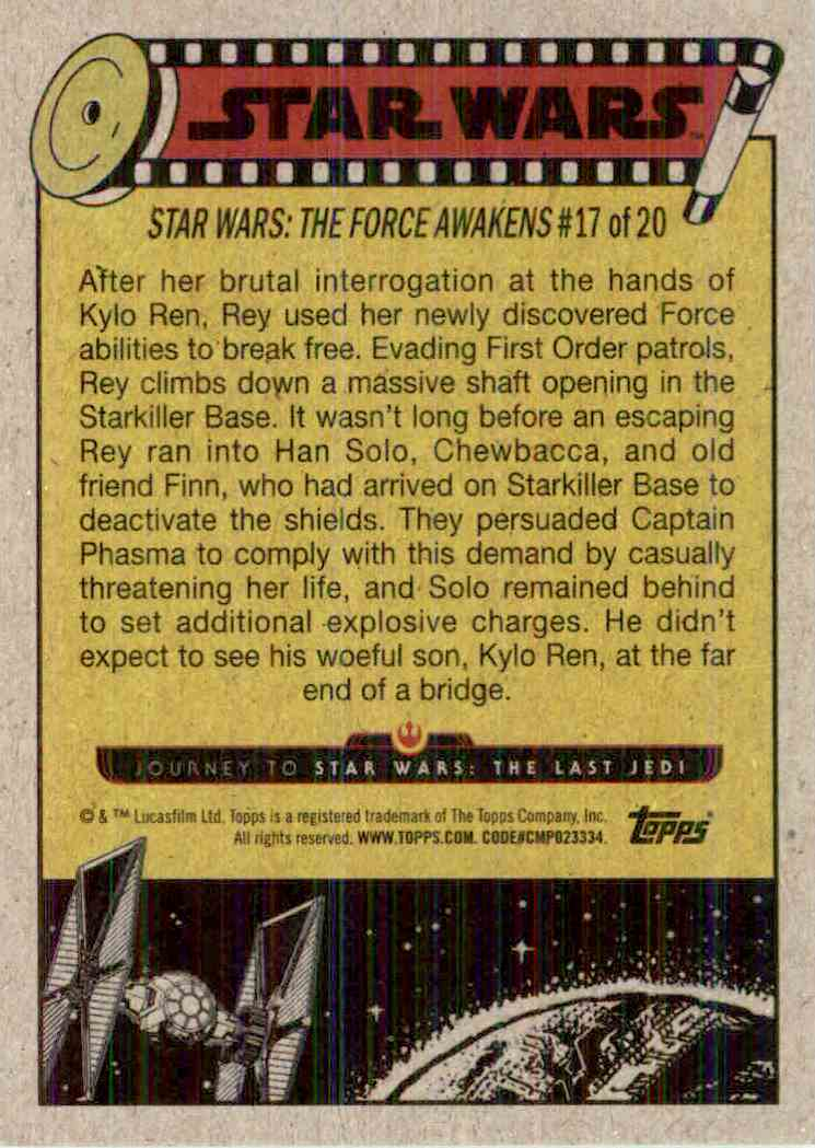 2017 Topps Star Wars Reunion With Rey #87 card back image