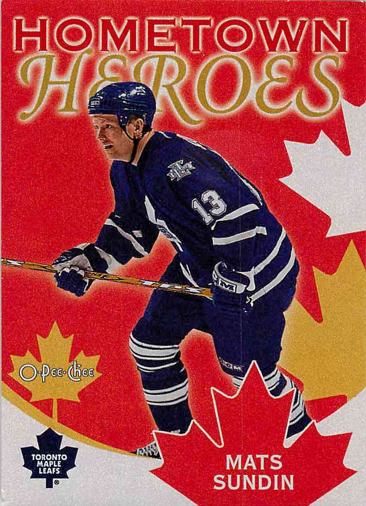 2002-03 O-Pee-Chee Hometown Heroes Mats Sundin #HHC5 card front image