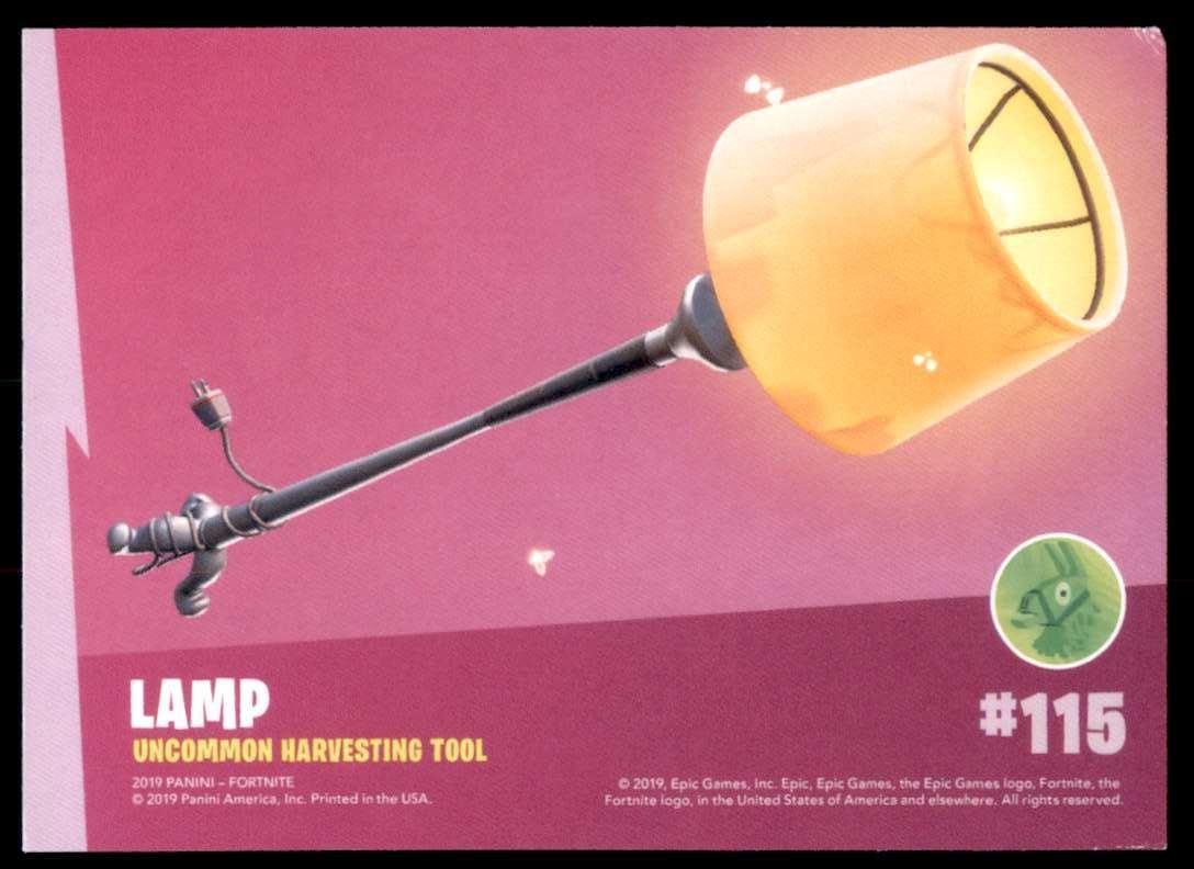 2019 Fortnite Series 1 Lamp U #115 card back image