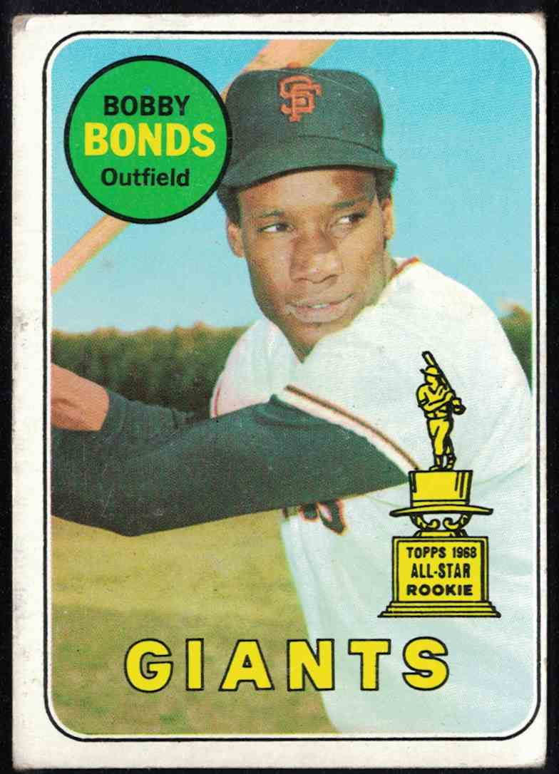 1969 Topps Bobby Bonds VG-EX crease #630 card front image