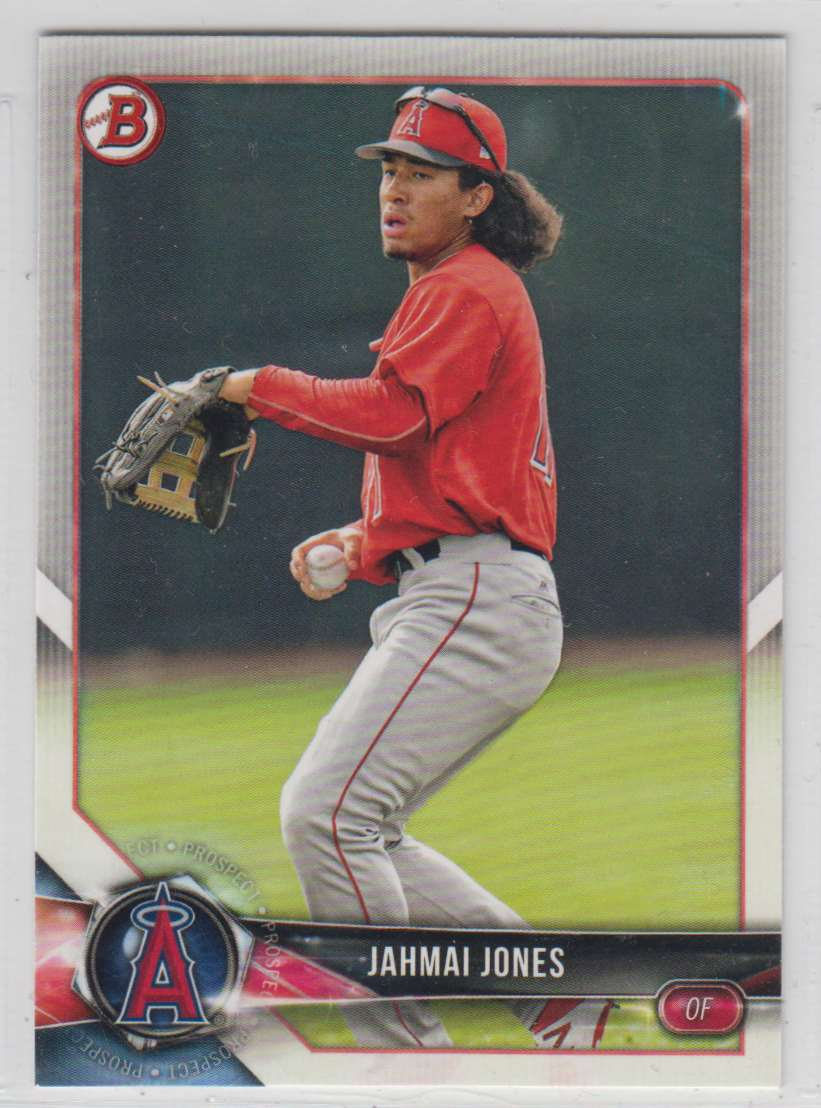 2018 Bowman Prospects Jahmal Jones #BP144 card front image