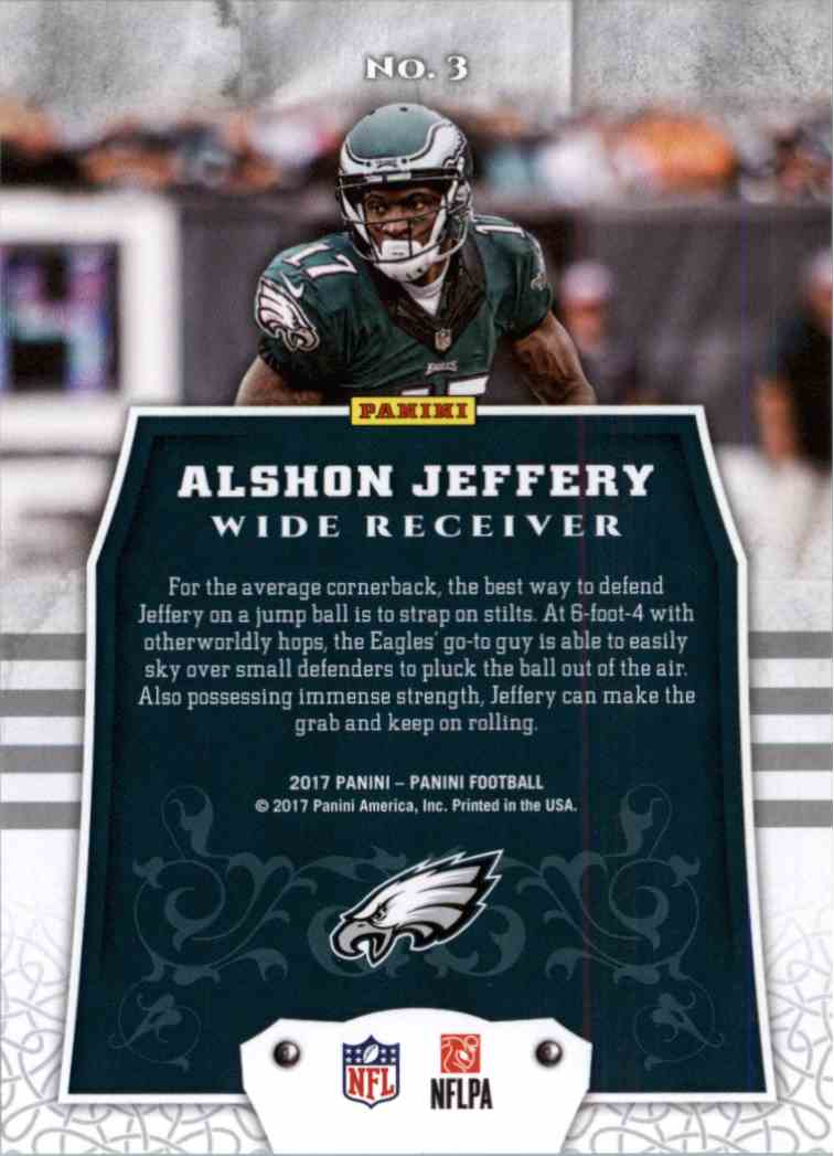 2017 Panini Football Alshon Jeffery #3 card back image
