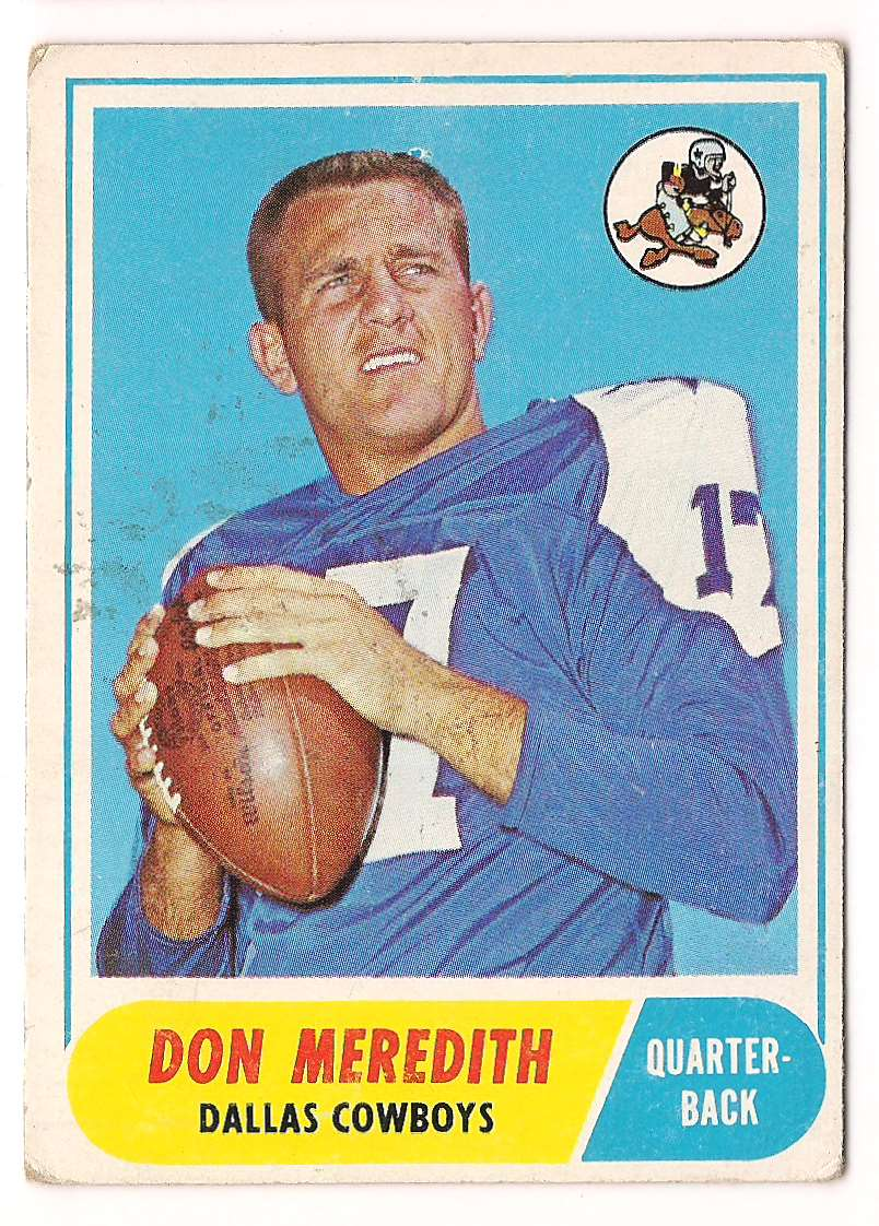 1968 Topps Don Meredith #25 card front image