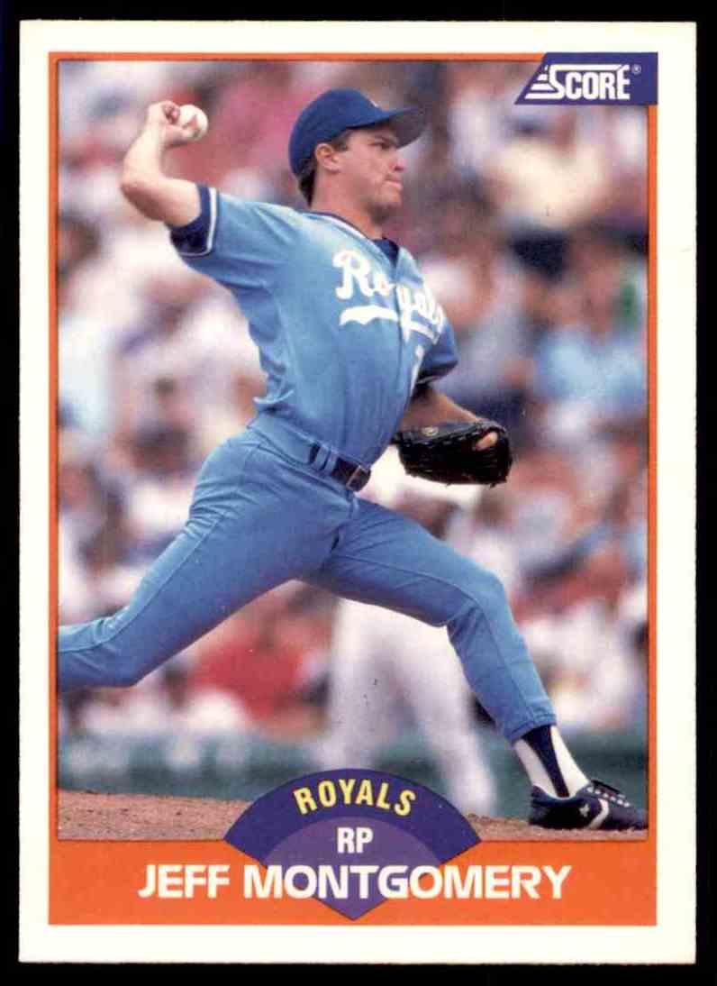1989 Score Regular Jeff Montgomery #367 card front image