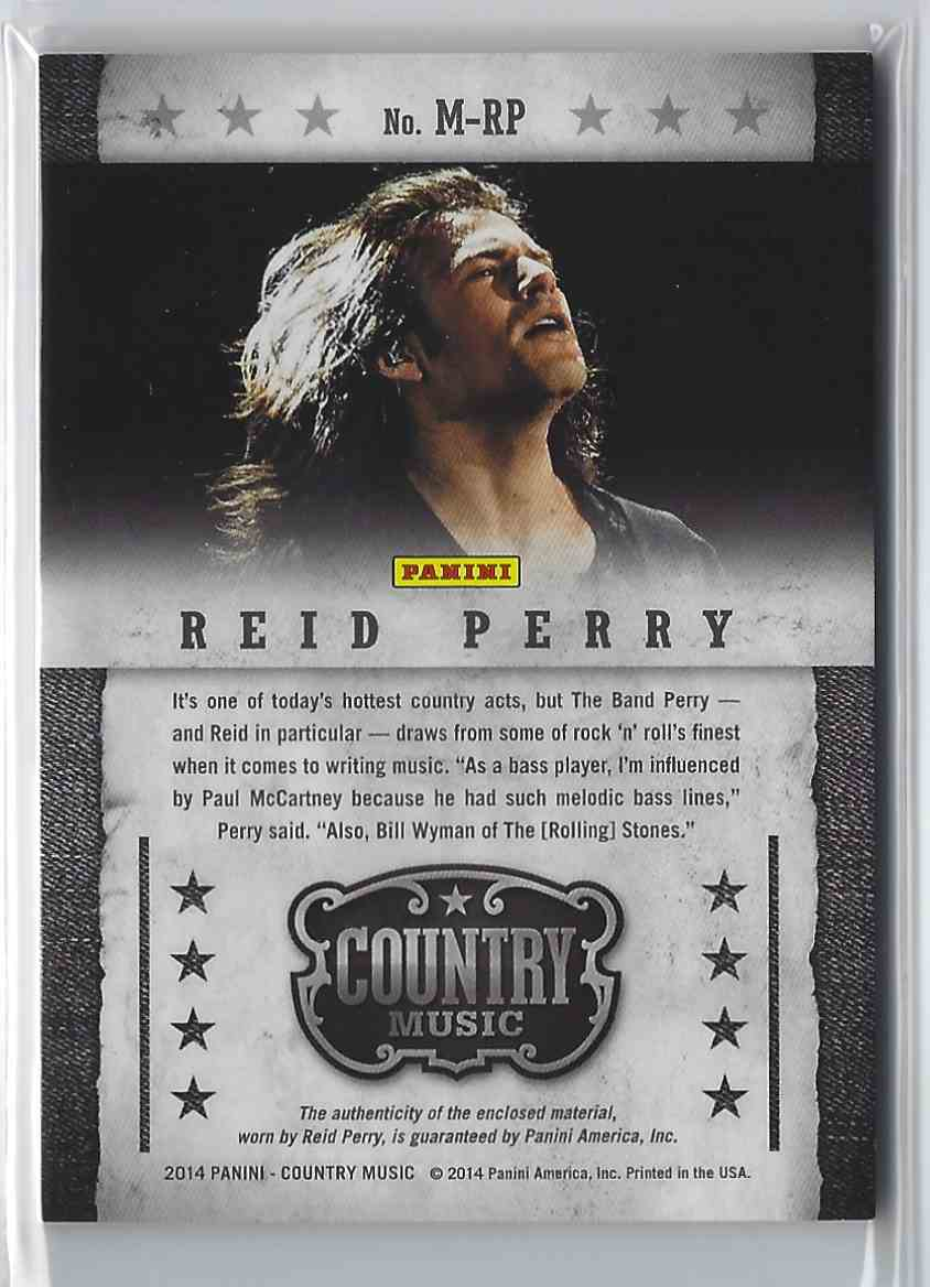 2015 Country Music Musician Materials Green Reid Perry #M-RP card back image