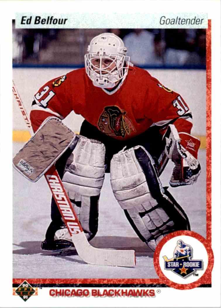 1990-91 Upper Deck Ed Belfour #55 card front image