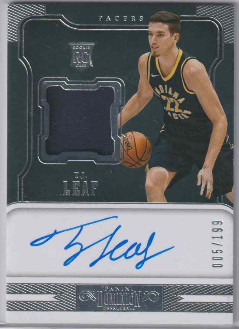 2017-18 Panini Dominion Rookie Jersey Autographs T.J. Leaf #152 card front image