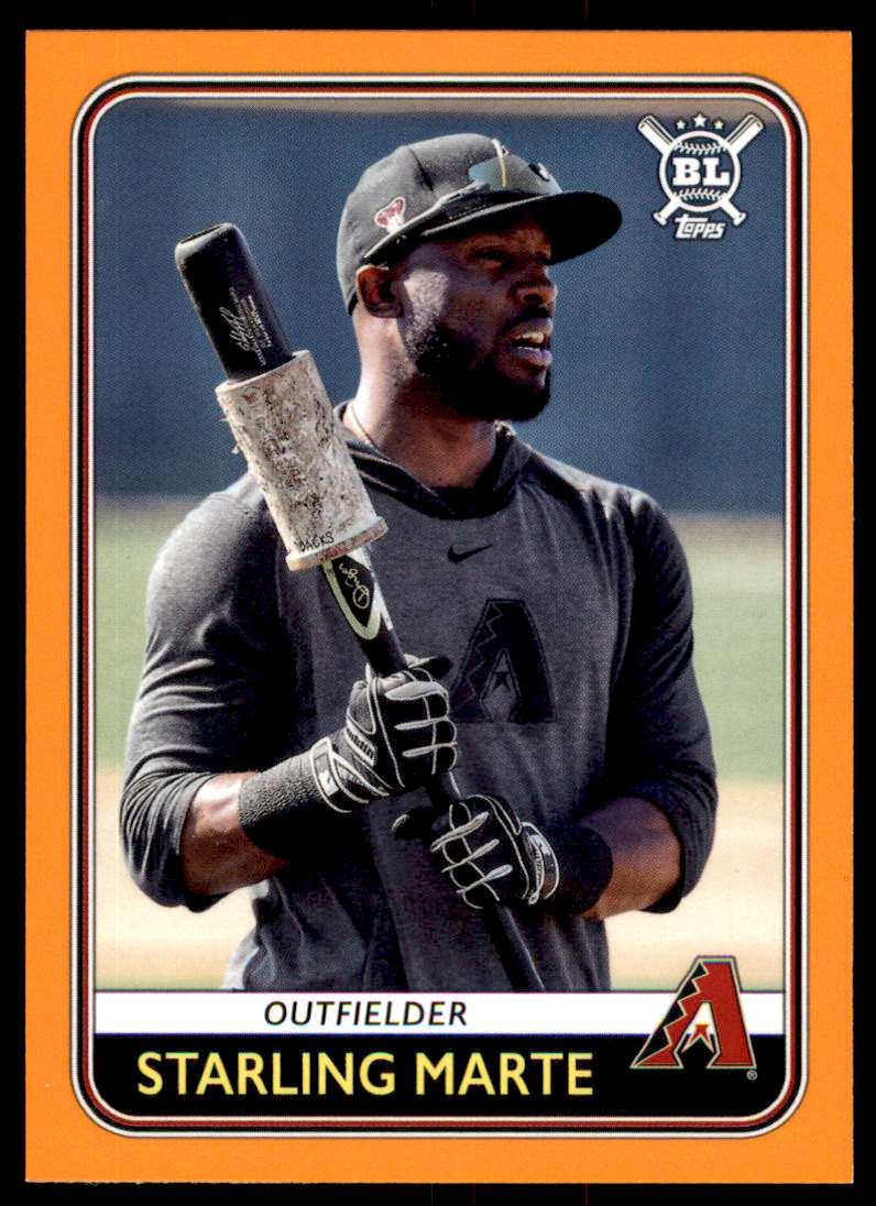 2020 Topps Big League Baseball Orange Parallel Starling Marte #106 card front image