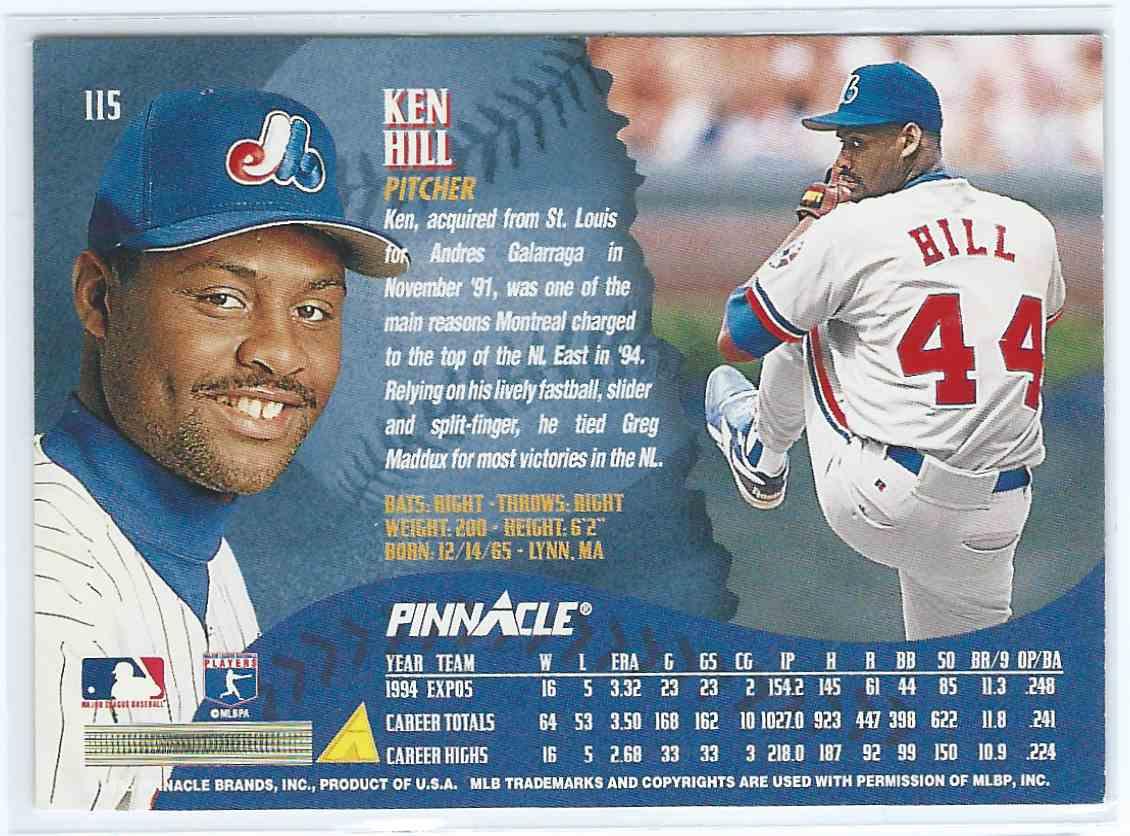 1995 Pinnacle Ken Hill 115 On Kronozio