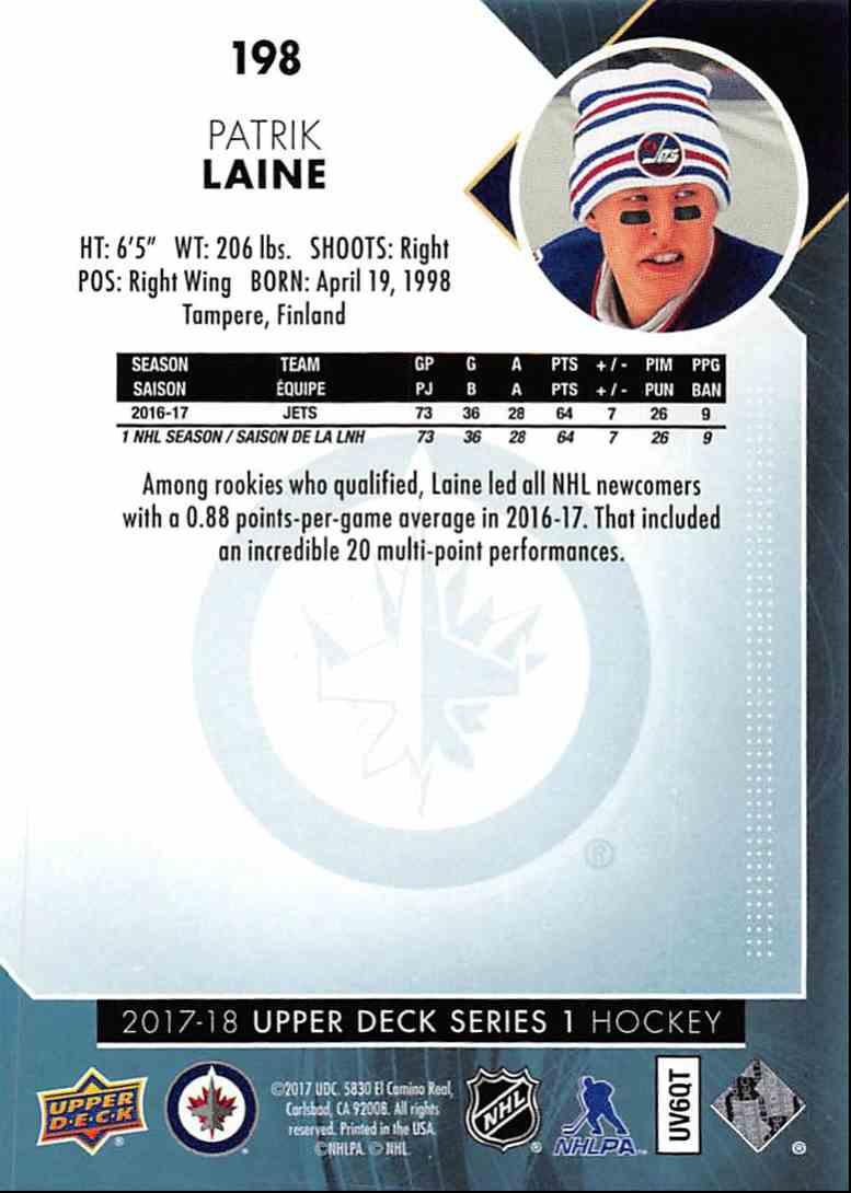 Patrik Laine Hockey Card 2017-18 Upper Deck #198 Patrik Laine