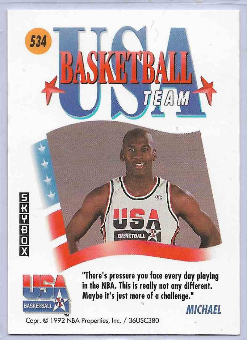 1992-93 Skybox Michael Jordan #534 card back image