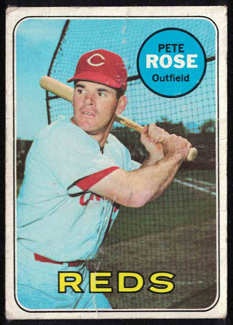 1969 Topps Pete Rose - Poor #120 card front image