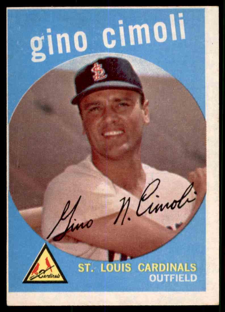 1959 Topps Gino Cimoli #418 card front image