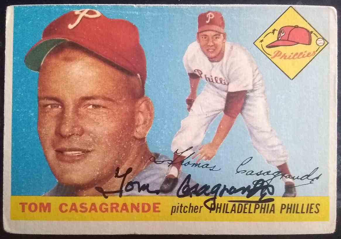 1955 Topps Tom Casagrande #167 card front image