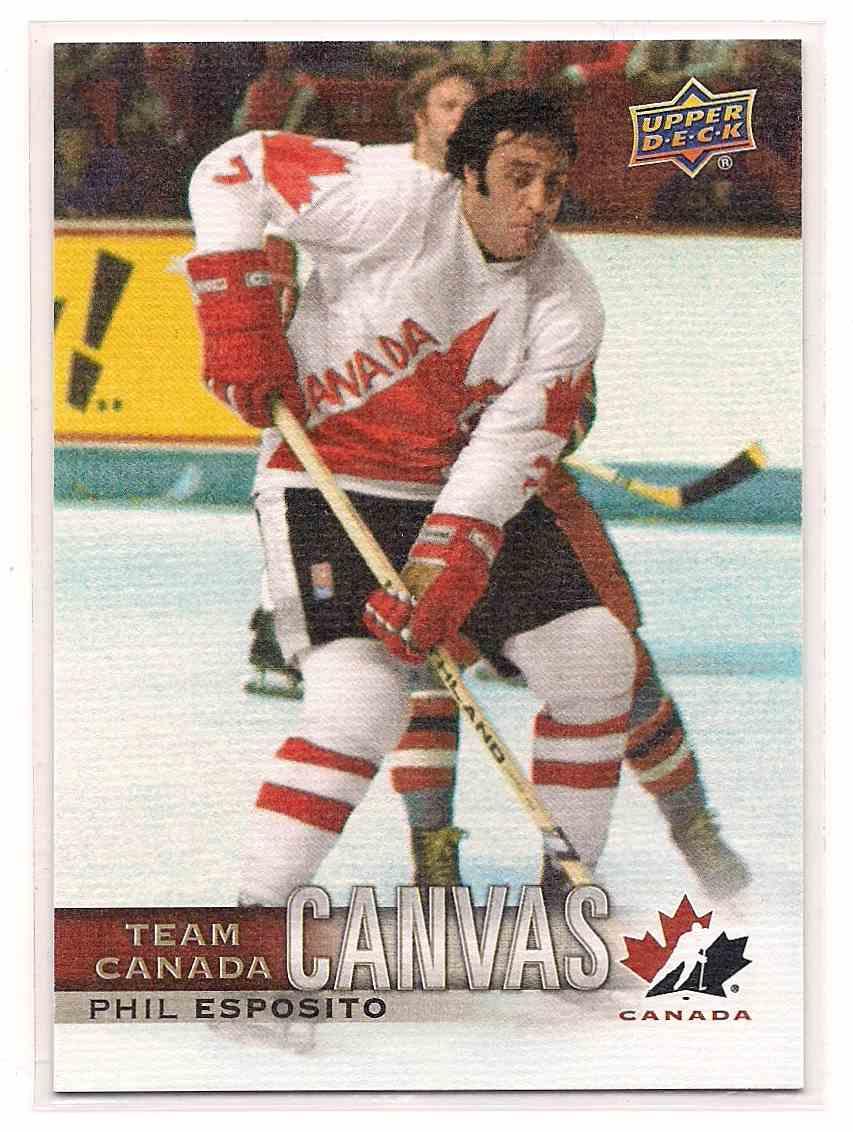 2017-18 Upper Deck Team Canada Canvas Phil Esposito #TCC-41 card front image