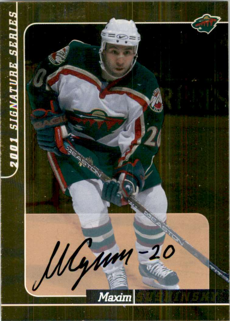 2000-01 Bap Signature Series Autographs Gold Maxim Sushinski #235 card front image