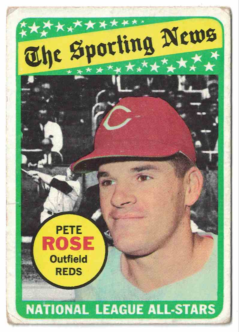 1969 Topps Pete Rose G-VG #424 card front image