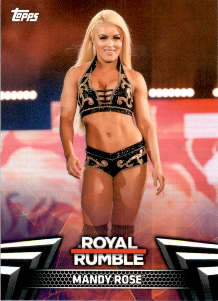 2019 Topps Wwe Women's Division Women's Royal Rumble Mandy Rose #RR3 card front image