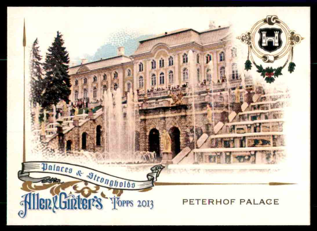 2013 Topps Allen And Ginter Palaces And Strongholds Peterhof Palace #PP card front image