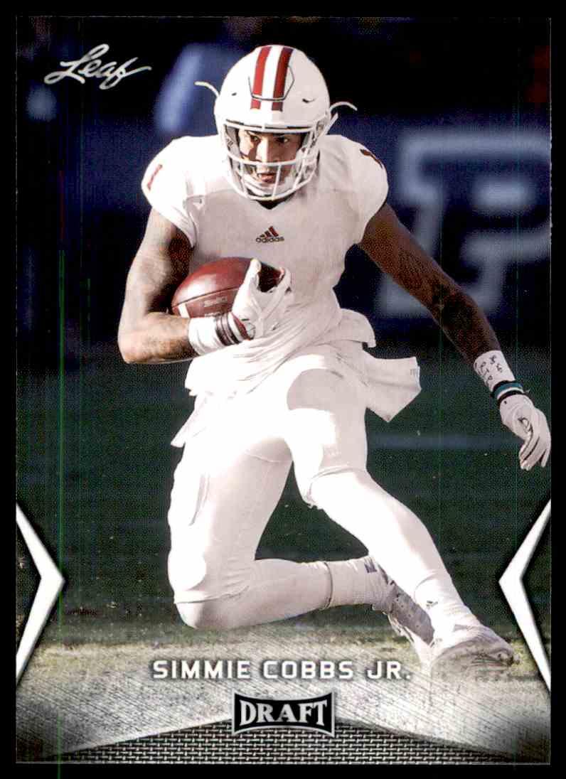 2018 Leaf Draft Simmie Cobbs JR. #56 card front image