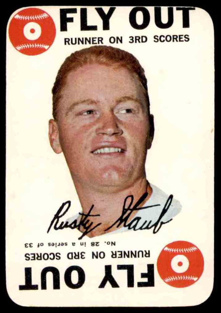 1968 Topps Game Rusty Staub #28 card front image