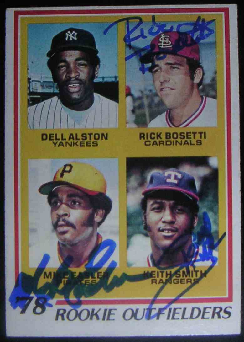 1978 Topps 1978 Rookie Outfielders Dell Alston Rick Bosetti Mike Easler Keith Smith #710 card front image