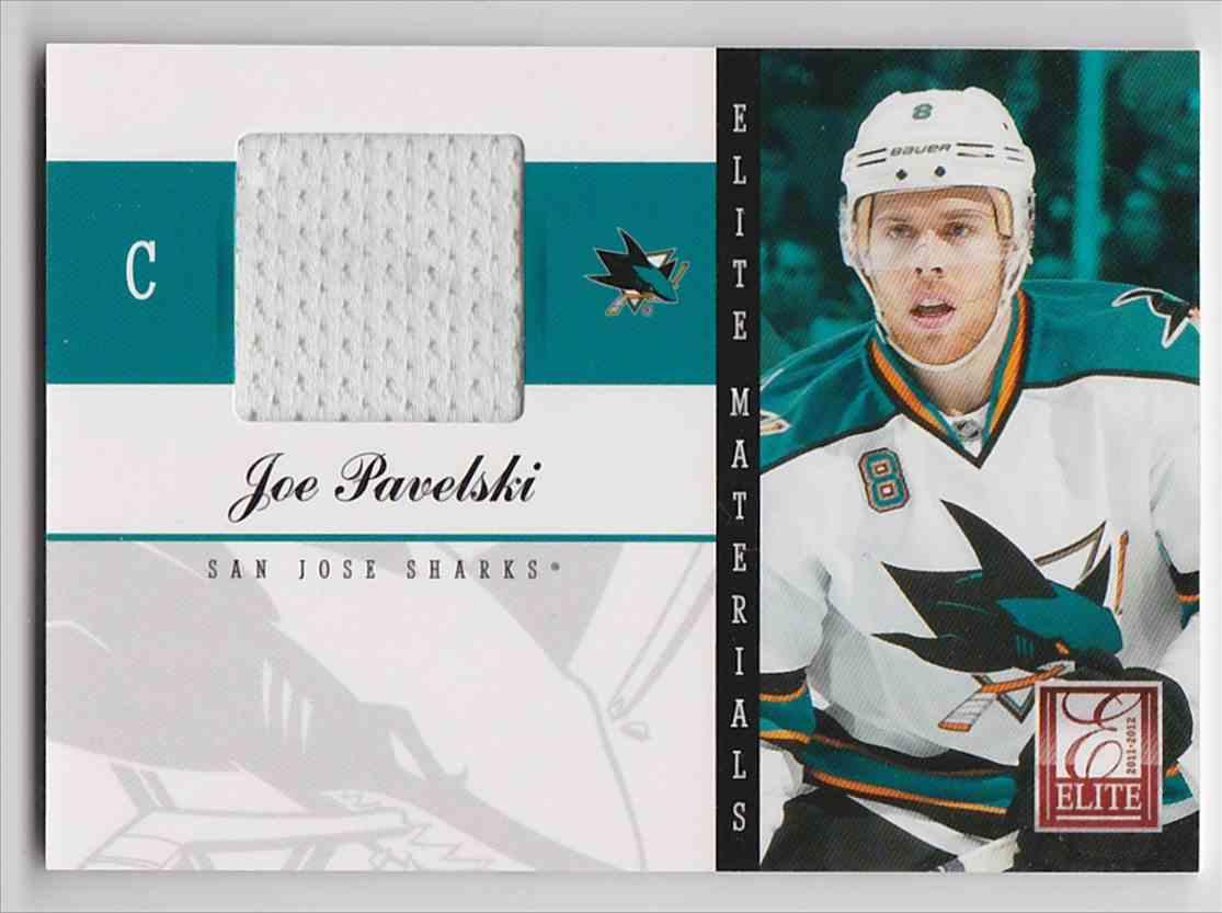 2011-12 Elite Materials Joe Pavelski #24 card front image