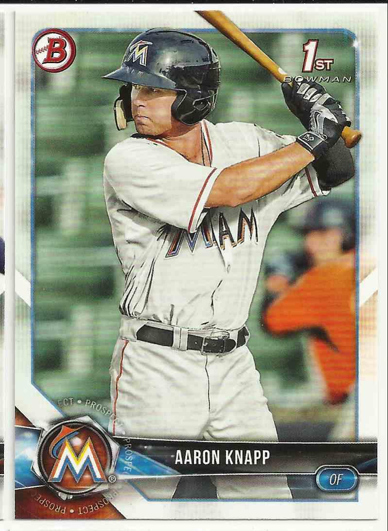 2018 Bowman Prospects Aaron Knapp #BP-5 card front image