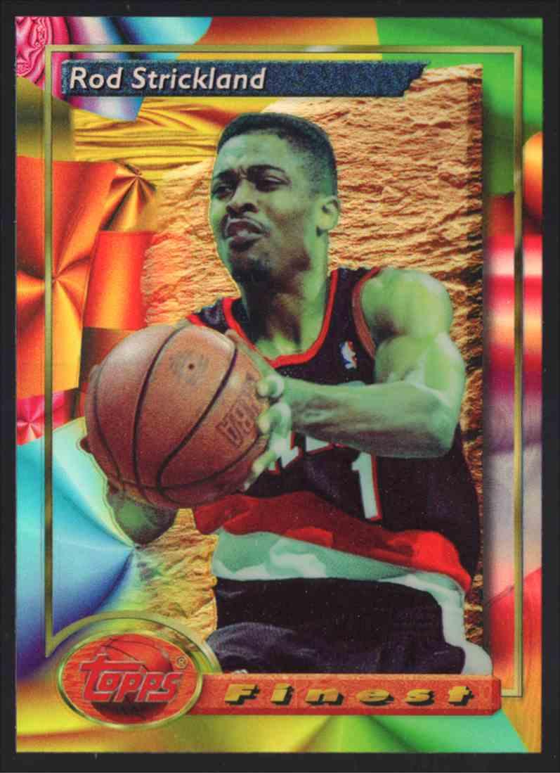 1993-94 Finest Refractors Rod Strickland #195 card front image