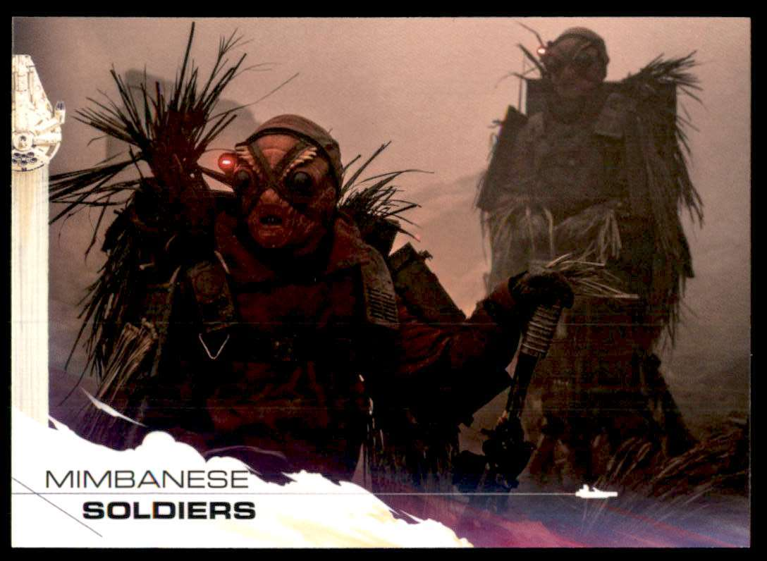 2018 Solo A Star Wars Story Mimbanese Soldiers #40 card front image