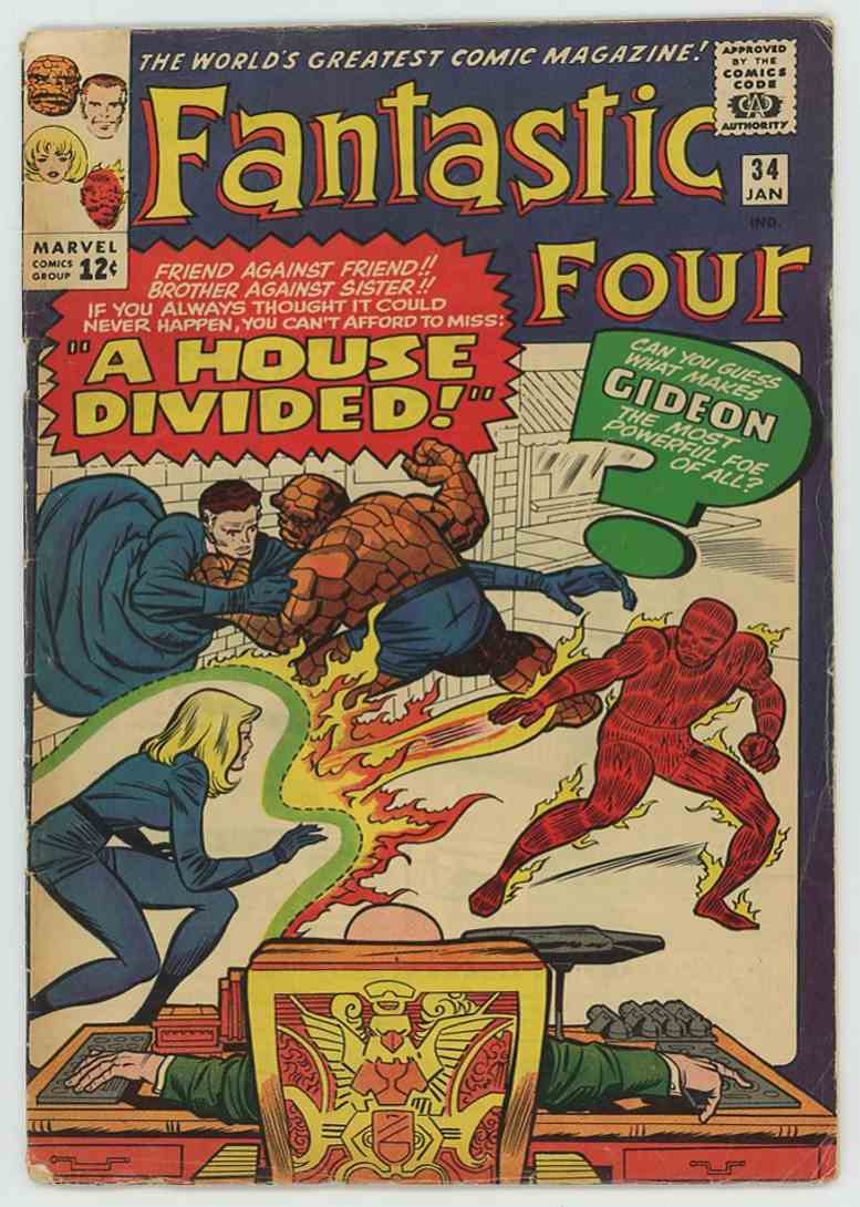1965 Marvel Vg+ #34 card front image