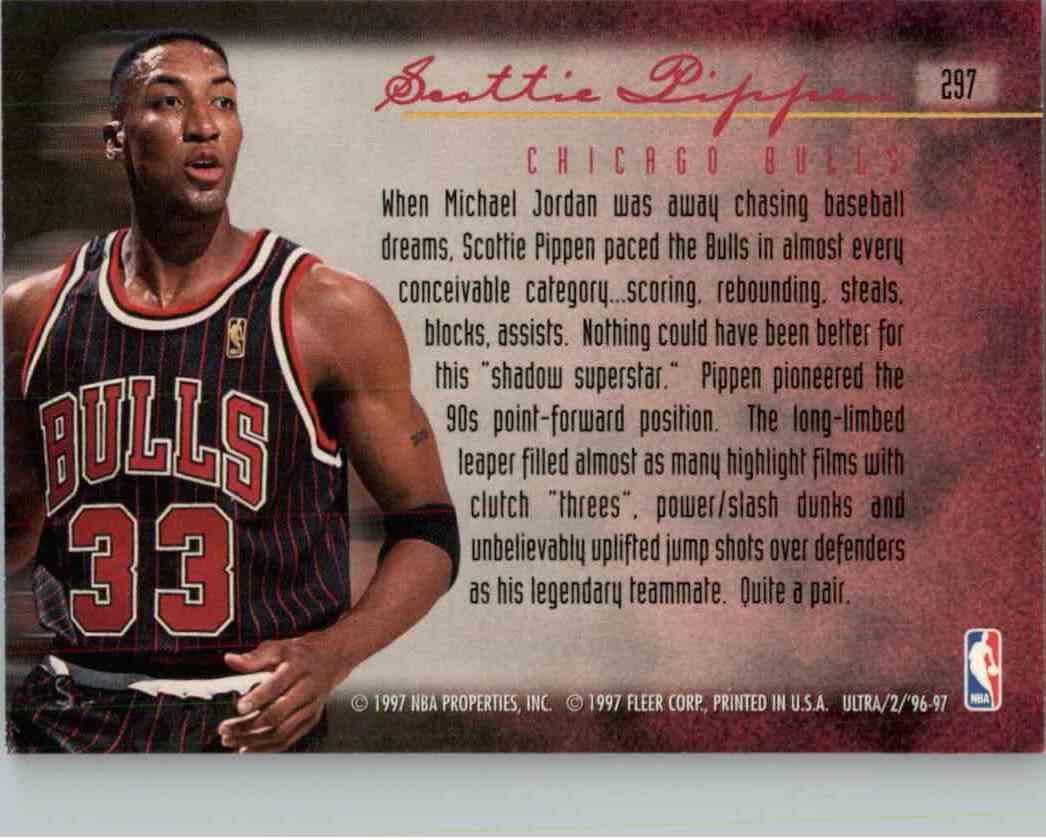 1996-97 Fleer Ultra Scottie Pippen #297 card back image