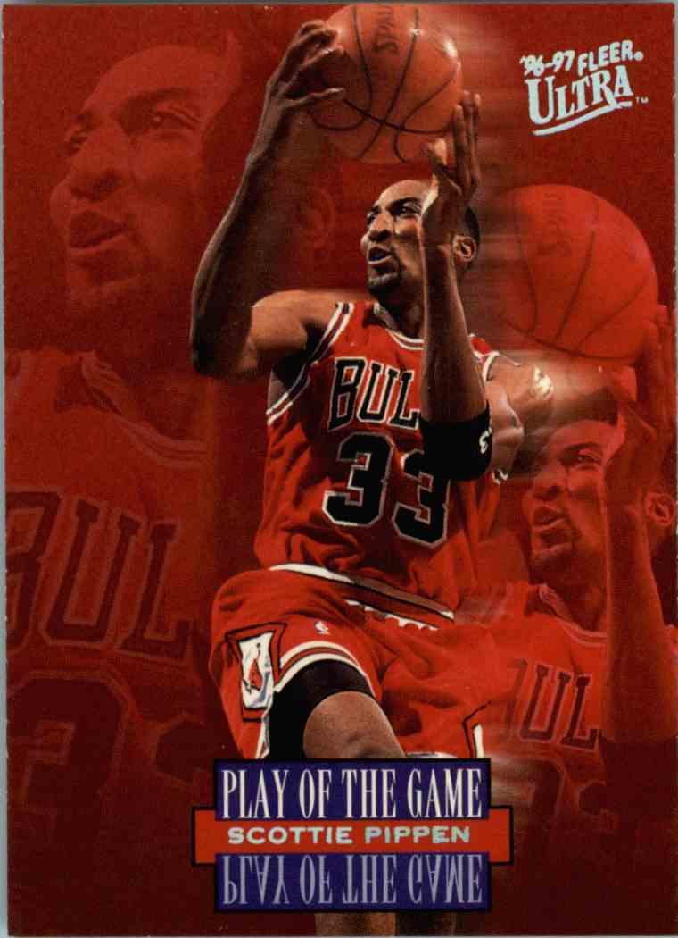1996-97 Fleer Ultra Scottie Pippen #297 card front image