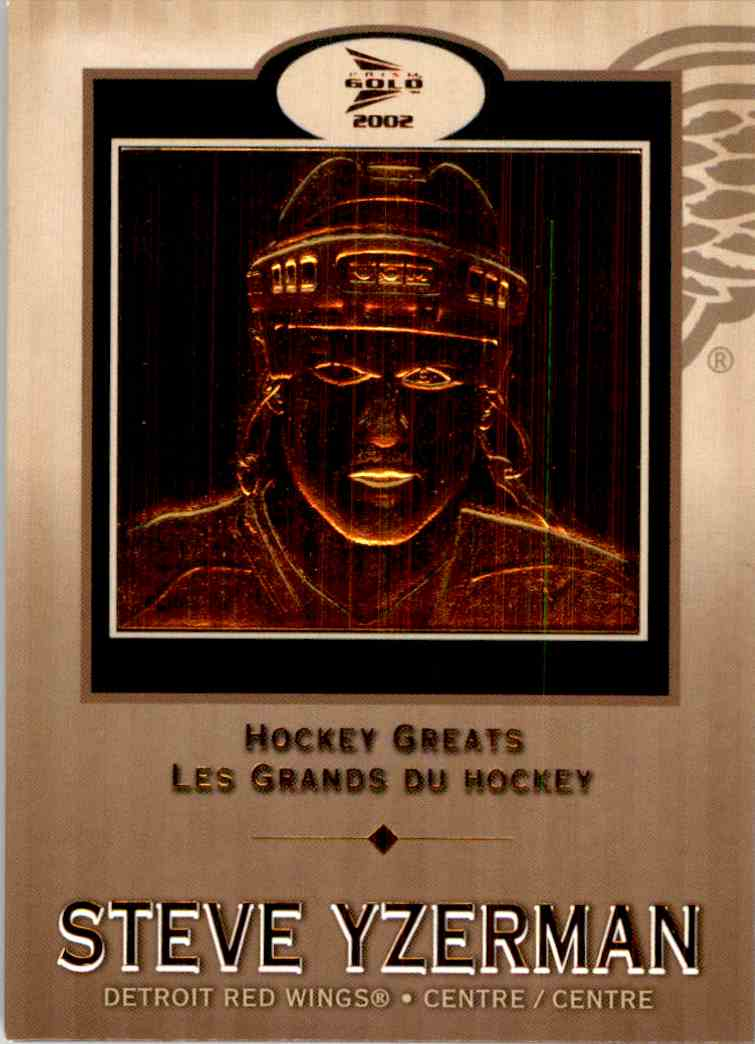 2001-02 Macdonald's Pacific Hockey Greats Steve Yzerman #5 card front image
