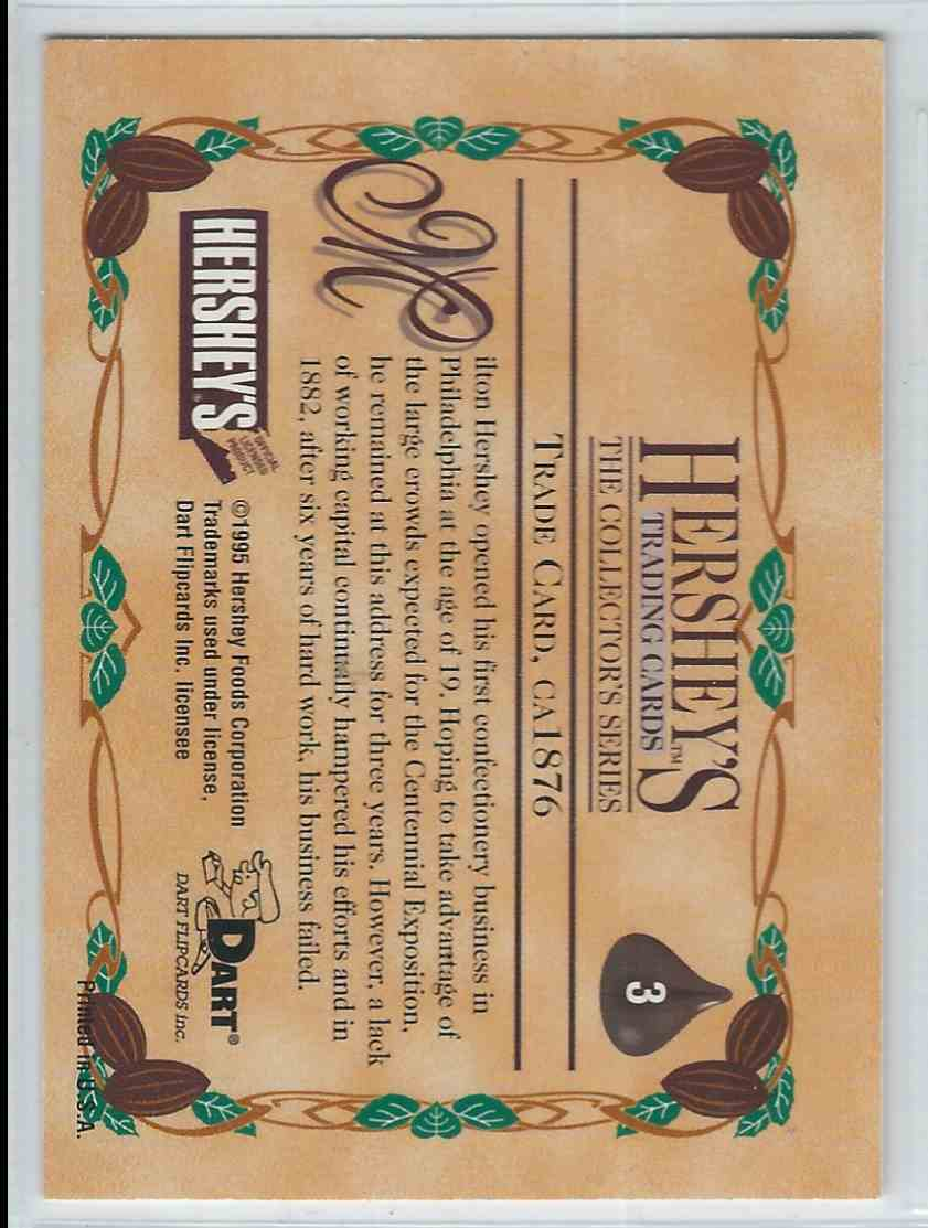 1995 Dart Flipcards Hershey's Trading Cards Trade Card. Ca1876 #3 card back image